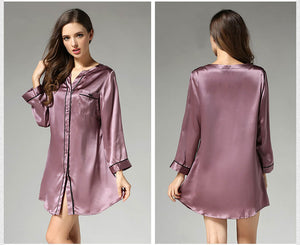 Pure Silk Sleep Shirt - Twilight Silk