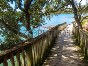 Hobson Bay Walkway Stock Photo