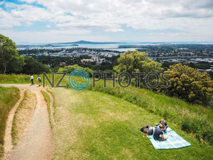 Mount Eden View Stock Photo