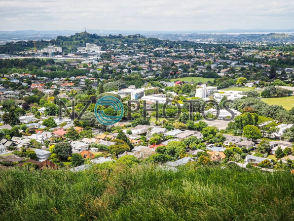 One Tree Hill View From Mount Eden Stock Photo