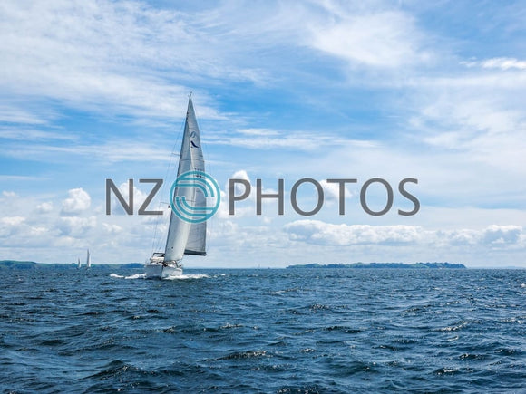 Hauraki Gulf Sailing Stock Photo