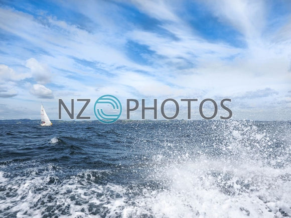 Sailing The Hauraki Gulf Stock Photo