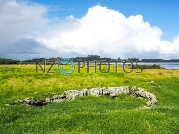 Ambury Park Lava Fields Stock Photo