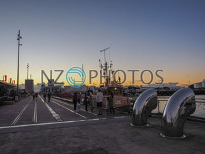 Wynyard Quarter Sunset Stock Photo