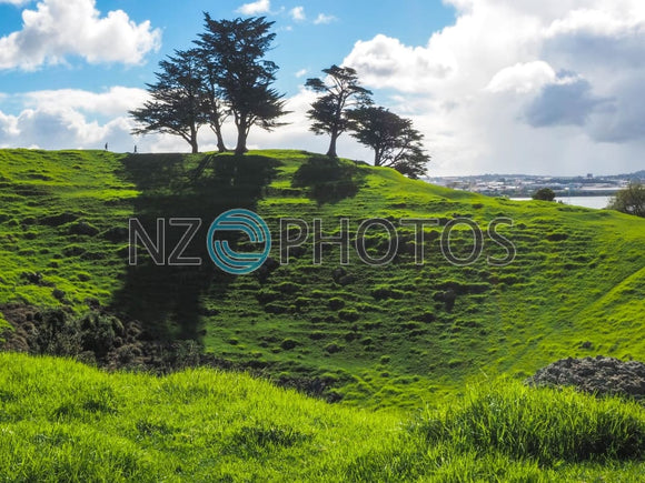 Mangere Mountain Volcano Stock Photo