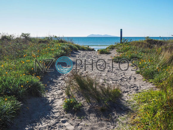 Waihi Beach Stock Photo