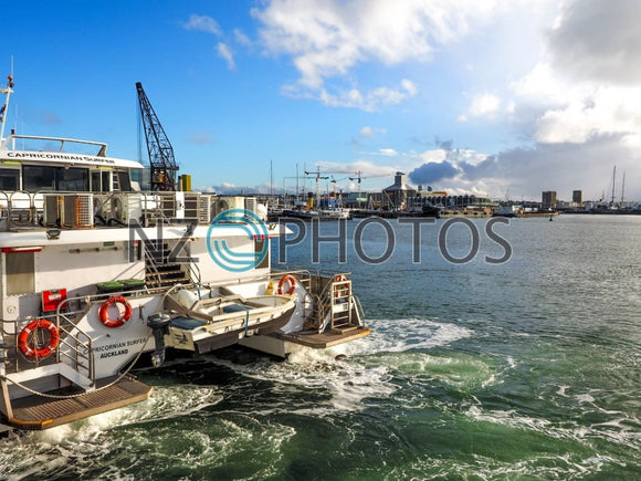 Auckland Harbour Ferry Stock Photo