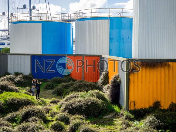 Silo Park In Wynyard Quarter Stock Photo