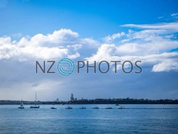 A Convoy Of Boats Stock Photo