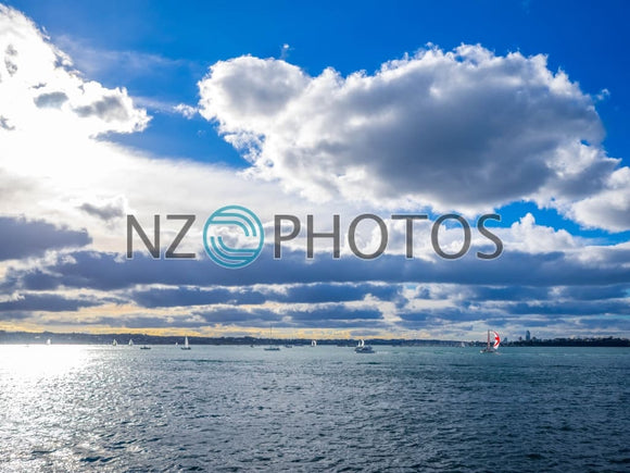 Auckland Harbour Basin Stock Photo