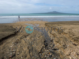Takapuna Beach Stock Photo