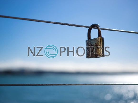 Love Lock Queenstown Stock Photo