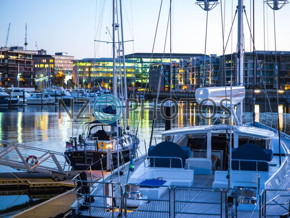 Viaduct Harbour Yachts Stock Photo
