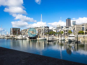 Viaduct Harbour Basin Stock Photo
