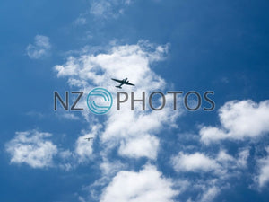 Planes In The Auckland Sky Stock Photo