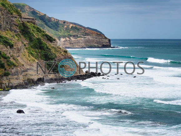 Muriwai Coastline Stock Photo