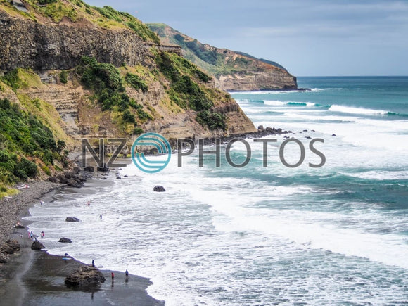 Aucklands Wild West Coast Stock Photo