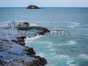 Muriwai Rocks Stock Photo