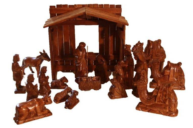 "19-Piece Philippines Nativity (5""-7"" figurines, 12"" stable) - Zions Marketplace"