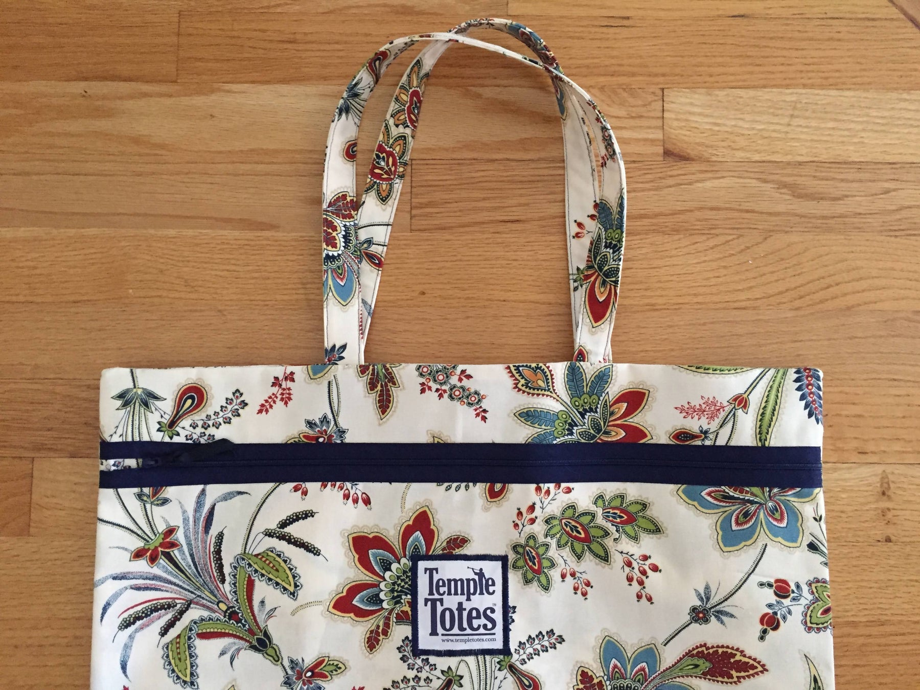 TempleTotes LDS Temple Bag - Jacobean (Navy)