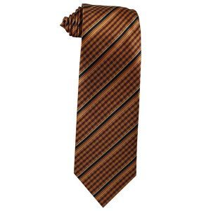 318 Mens Tangerine and Brown Gingham with Black Stripes - Zions Marketplace