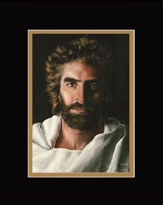 Prince of Peace Print, Double Matted, 16-inch x 20-inch, the Heaven is for real face of Jesus by Akiane Kramarik