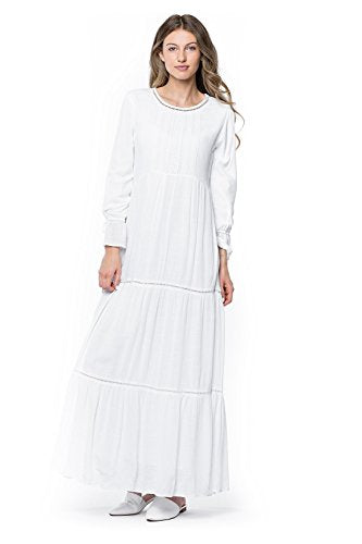 ModWhite White Camellia Dress