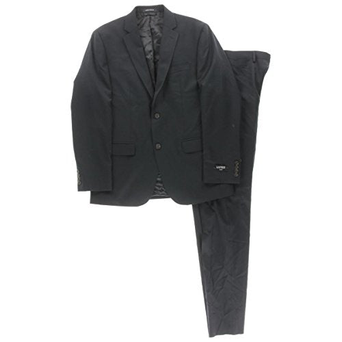 Lauren Ralph Lauren Mens Wool 2PC Two-Button Suit Navy 40L - Zions Marketplace