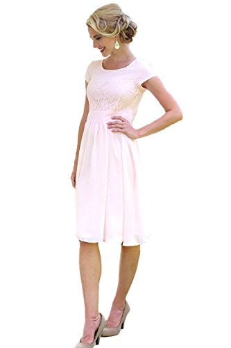 Mikarose Isabel Modest Dress In Light Pink - L