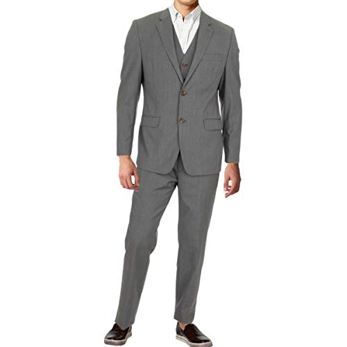 Lauren Ralph Lauren Mens Wool Slim Fit Two-Button Suit Gray 42R - Zions Marketplace