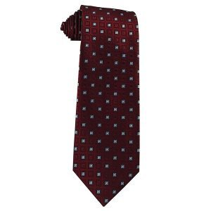 343 Mens Burgundy Wine with Frost Blue Squares - Zions Marketplace
