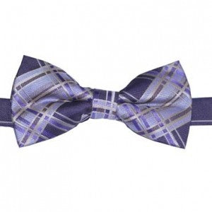 MBow347 Mens Pretied Bow Tie Lavender, Gold, Purple and Brown Plaid