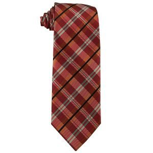 376 Mens Persimmon and Tangerine Plaid - Zions Marketplace