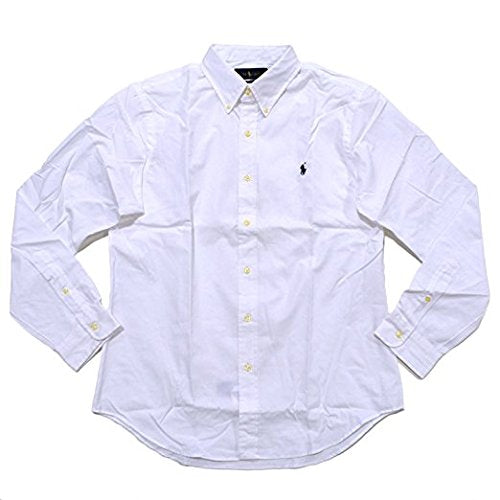 RALPH LAUREN Polo Men Slim Fit Poplin Sport Shirt White X-Large