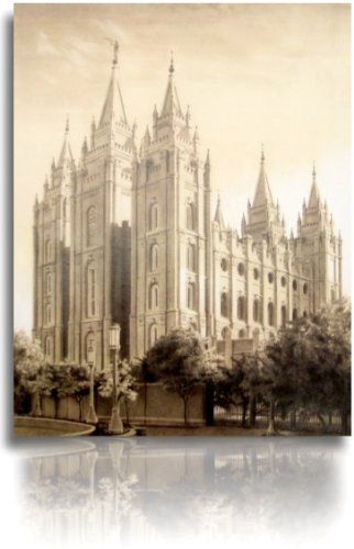LDS Salt Lake City Utah Temple Drawing 11x14""