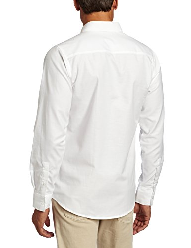 Lee Uniforms Men's Long Sleeve Oxford Shirt, White, Medium
