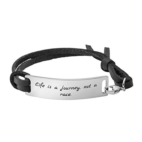 Yiyang Wrap Bracelet For Friendship Inspirational Quotes Life Is A Jou