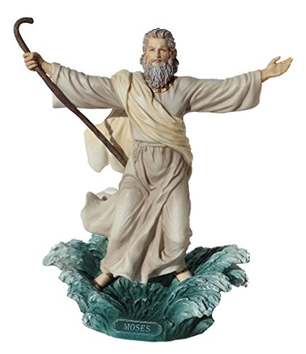Moses Parting The Red Sea Statue Figurine Polystone