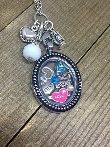 Harper Olivia I love my Missionary ~ Mormon ~ Latter Day Saint ~ Choose the Right Jewelry Floating Locket Necklace for Birthday or Graduation - Zions Marketplace