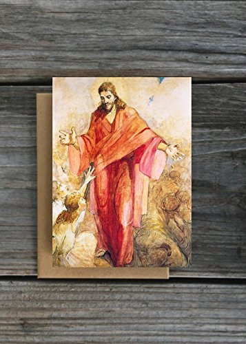 LDS Greeting Cards - Minerva Teichert - Christ In His Red Robe - Set of 12 w/envelopes - Zions Marketplace