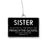 Sister Badge Ornament