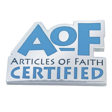 Articles of Faith Certified Recognition - Zions Marketplace