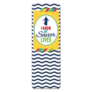 I Know My Savior Lives, 2015 Bookmark - Zions Marketplace