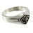 Large Classic CTR Ring - Silver Black Antique - Zions Marketplace