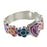 Flower Petals CTR Ring - Silver - Zions Marketplace