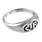 LDS CTR, Allegro Silver Antiqued Ring - LDS CTR Ring - Zions Marketplace