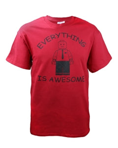 Everything Awesome - Red T-Shirt - Zions Marketplace