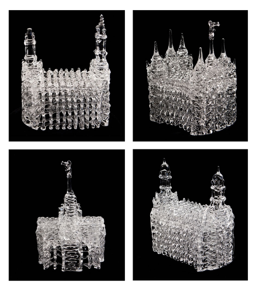 Glass Temple Sculptures (Select a Size)