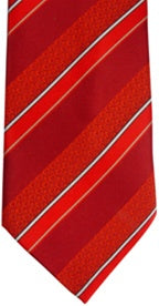 Tie,CTR Child Stripe Red Clip-Adjustable