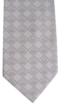 Tie,Liahona Adult Silver-Pink